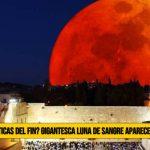 """¿Señal Profética del Fin? Gigantesca """"Luna de Sangre� cubrirá el Cielo de Jerusalén"""