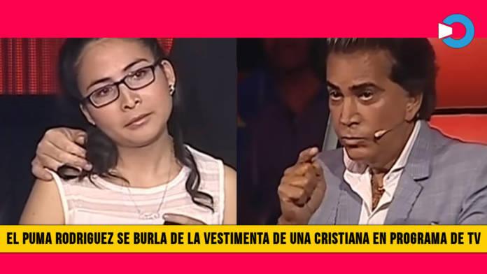 El Puma Rodriguez se Burla de la Vestimenta de una Cristiana en Programa de TV