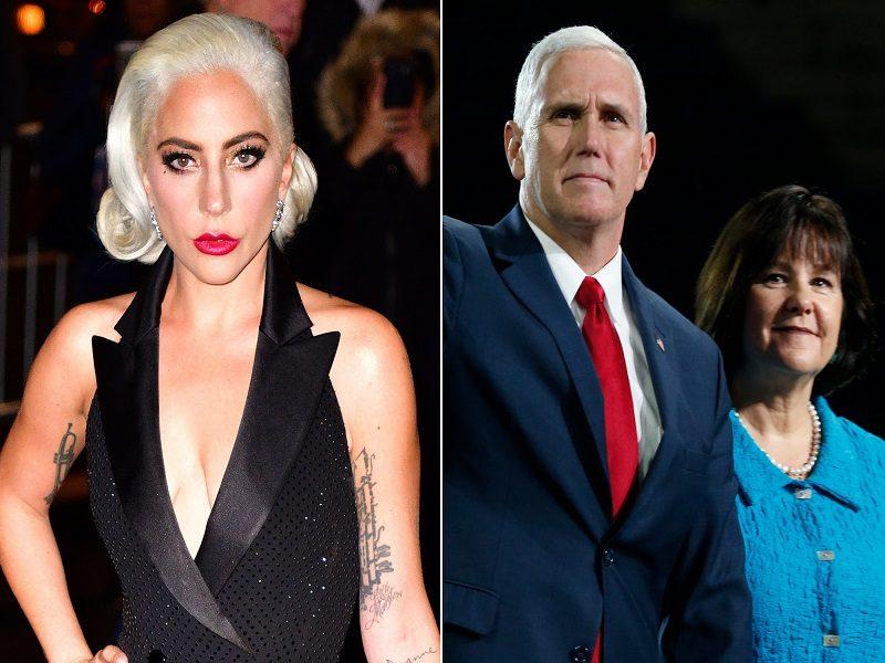 Lady Gaga critica a Mike Pence por apoyar a su esposa en defensa del matrimonio tradicional