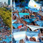 Más de 2 millones de personas marcharon por la vida en Argentina